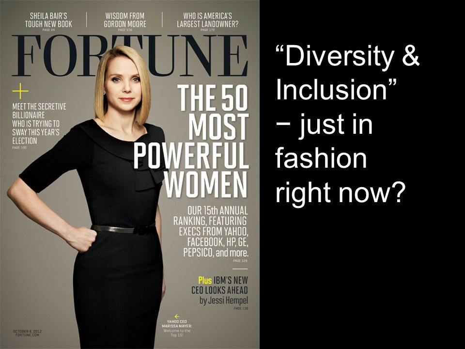 Diversity & Inclusion − just in fashion right now