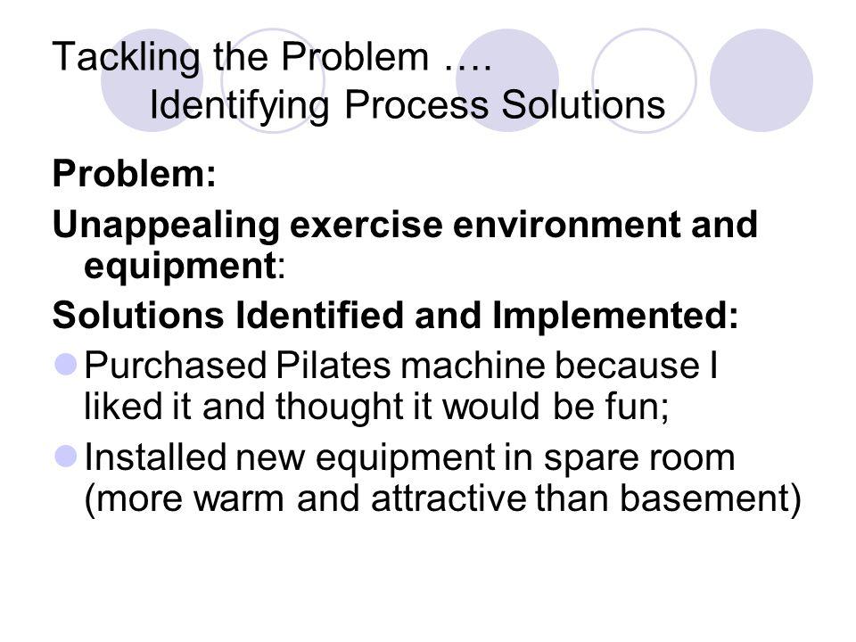 Tackling the Problem ….