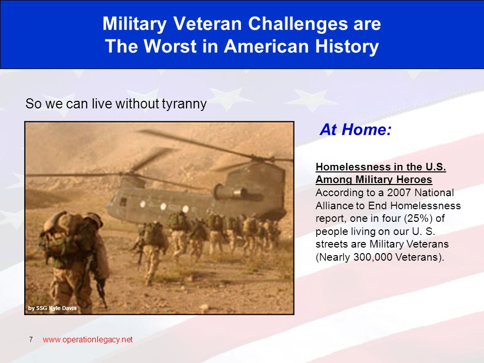 www.operationlegacy.net 18 Our Veterans Are Coming Home From this: Photo Courtesy of U.S.