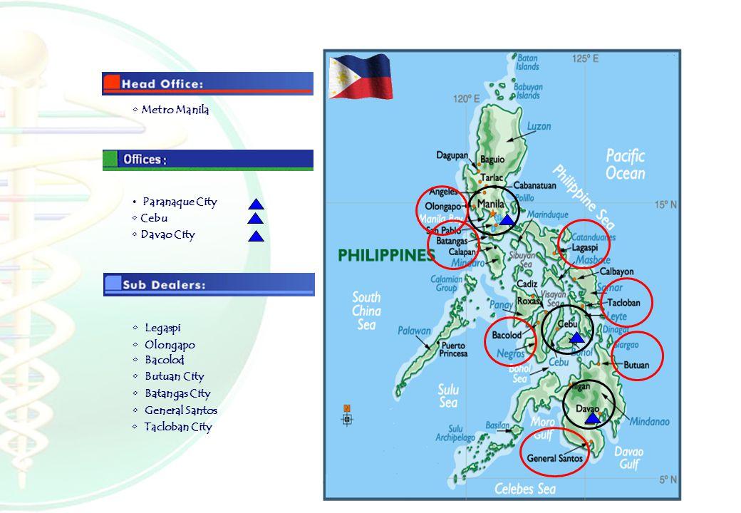 Metro Manila Paranaque City Legaspi Olongapo Bacolod Butuan City Batangas City General Santos Davao City Tacloban City Cebu