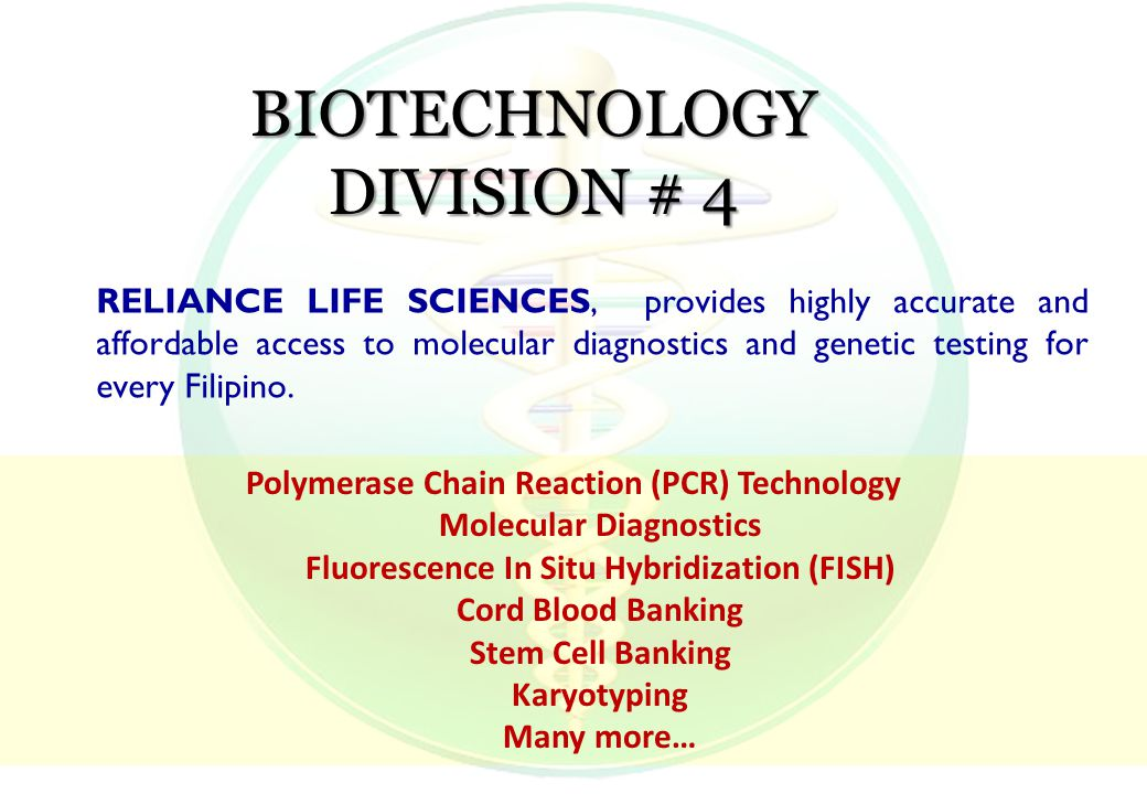RELIANCE LIFE SCIENCES, provides highly accurate and affordable access to molecular diagnostics and genetic testing for every Filipino.
