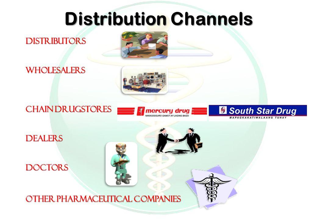 Distribution Channels DistributorsWholesalers Chain Drugstores DealersDoctors Other Pharmaceutical Companies