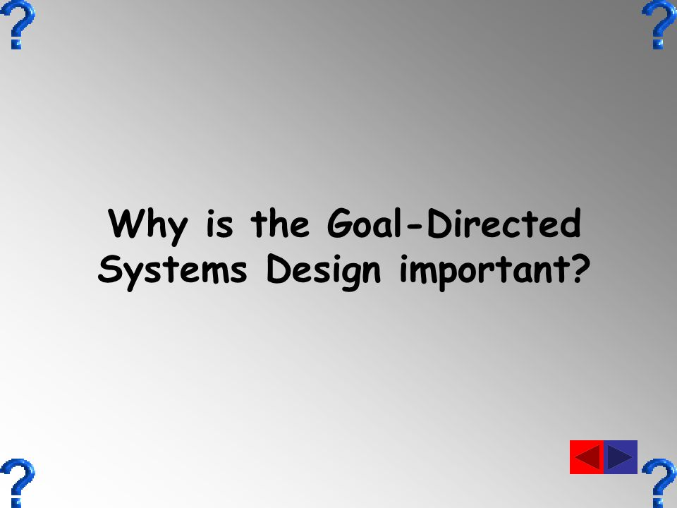Why is the Goal-Directed Systems Design important