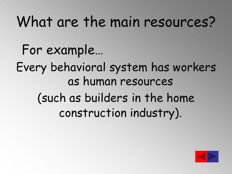 What are the main resources.