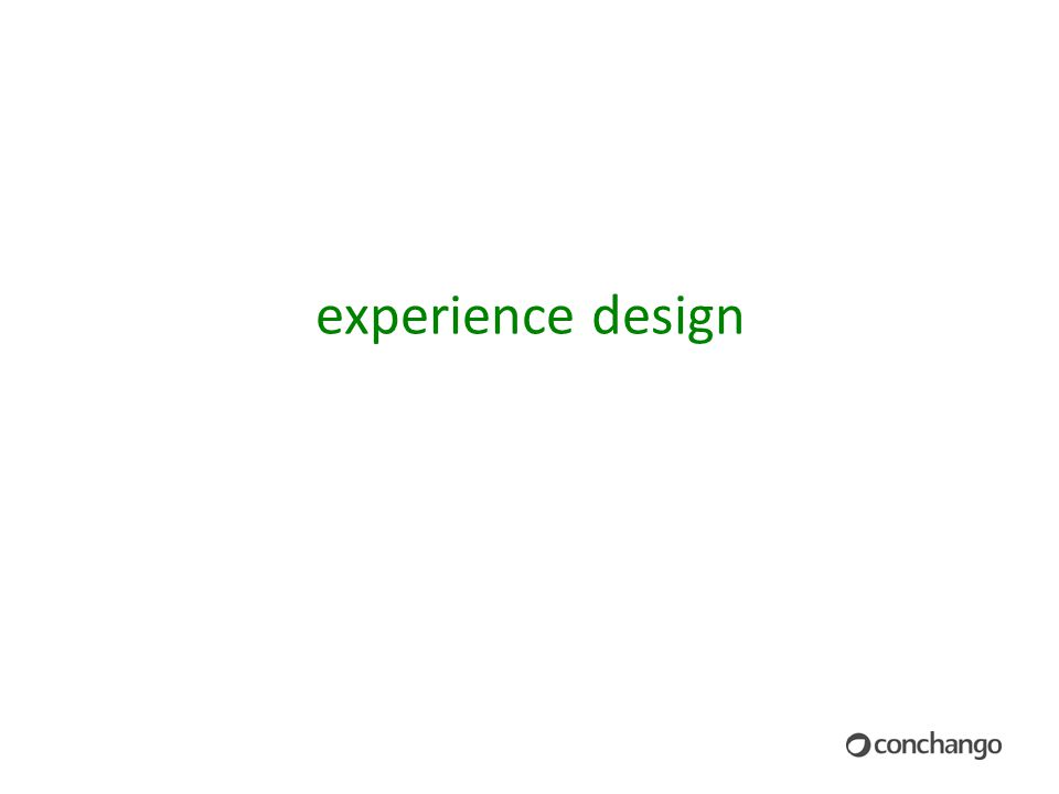 12 experience design