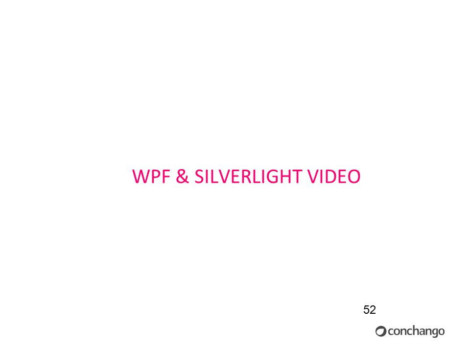 52 WPF & SILVERLIGHT VIDEO
