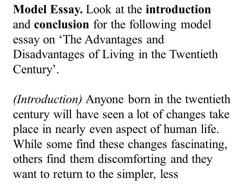 Model Essay.