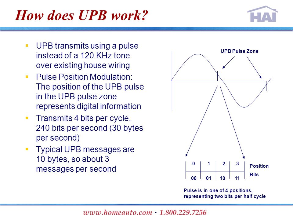 How does UPB work.