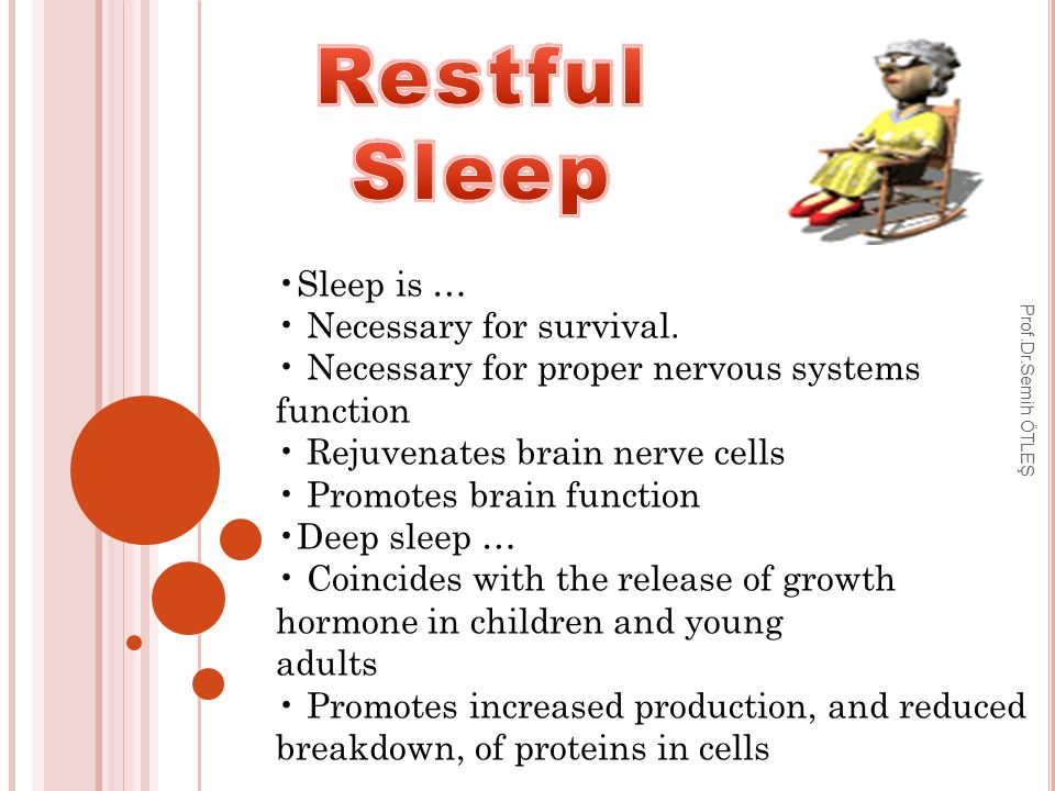 Sleep is … Necessary for survival.