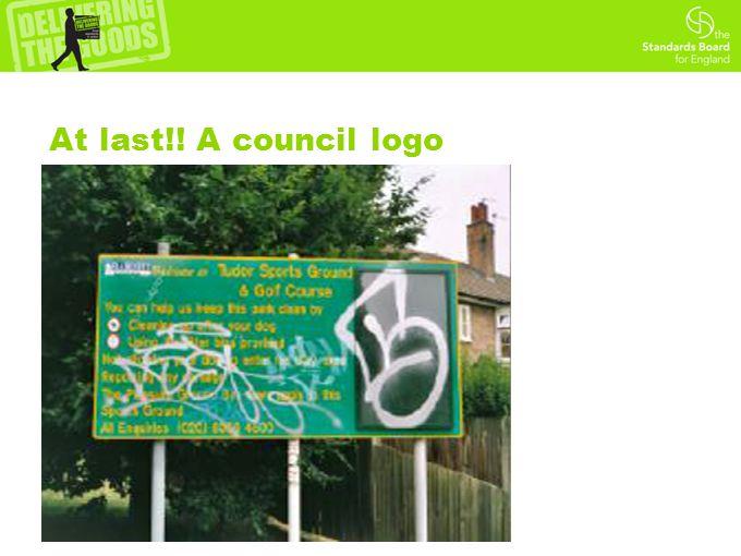 At last!! A council logo