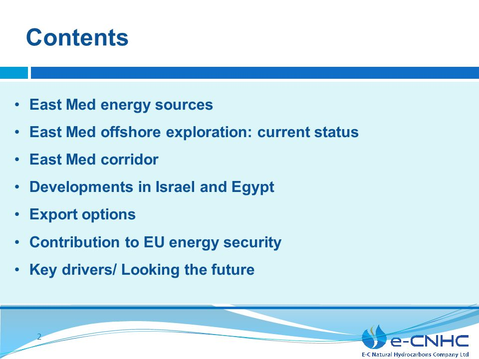 Dr. CHARLES ELLINAS CEO e-CNHC Cyprus and the Eastern Mediterranean Hydrocarbons Resources: Energy Resources and Opportunities ITRE Hearing European P