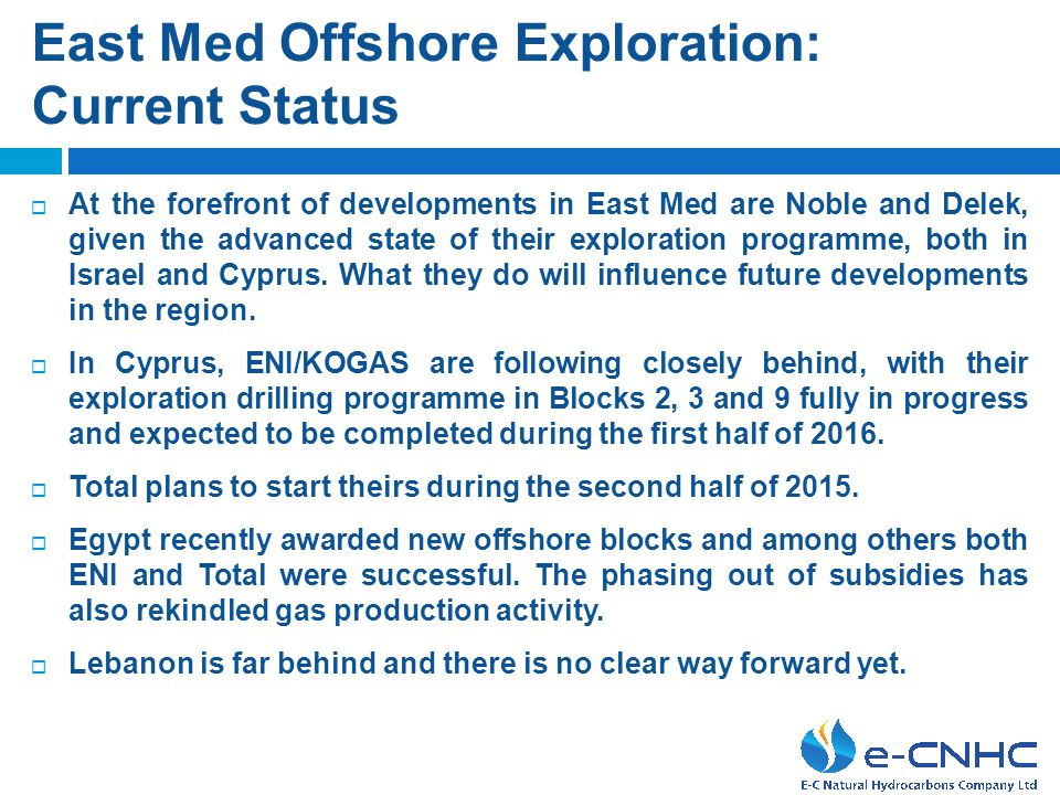 Developing energy sources  Discovery of hydrocarbons reserves in East Med could and must serve as a catalyst for a broader cooperation on a regional