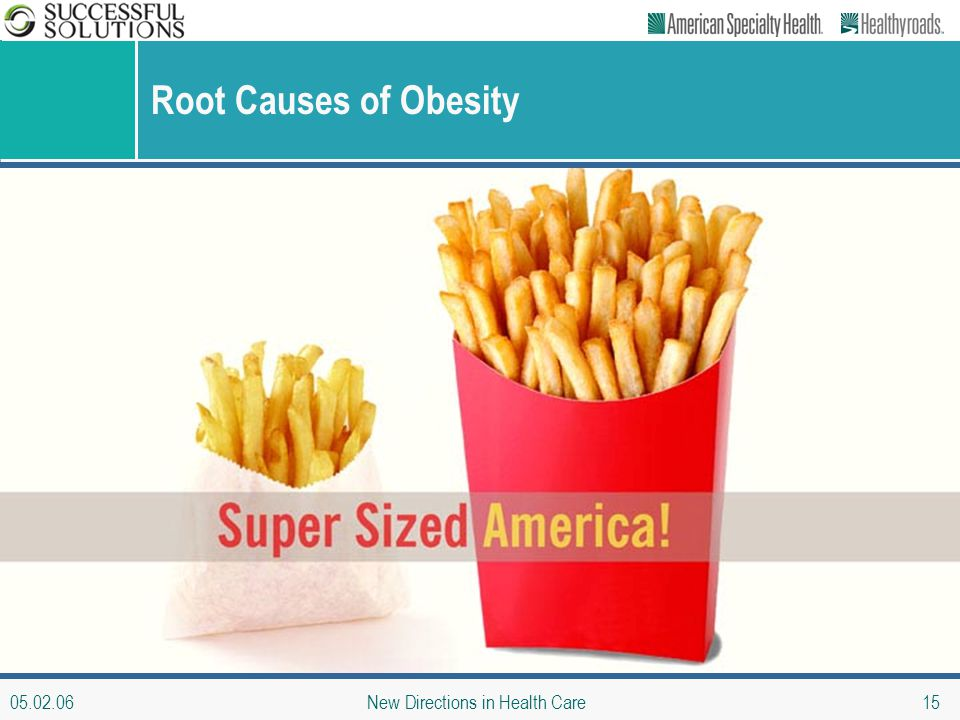 05.02.06 New Directions in Health Care 15 Root Causes of Obesity