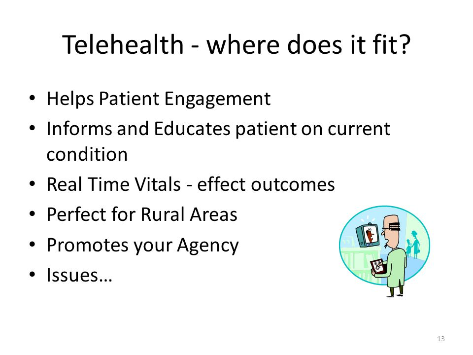 Telehealth - where does it fit.