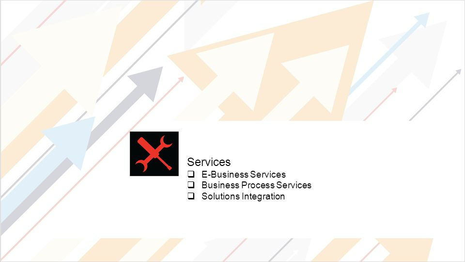 Services  E-Business Services  Business Process Services  Solutions Integration