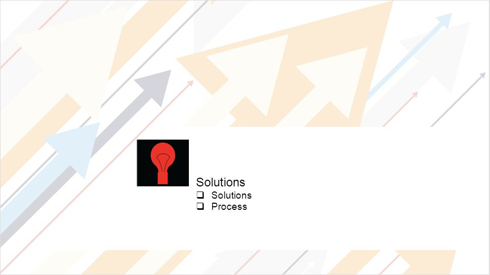 Solutions  Solutions  Process