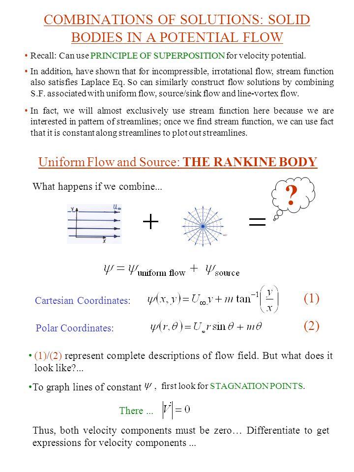 Continued...Cartesian Coordinates: (3) (4) For v=0 Eq.