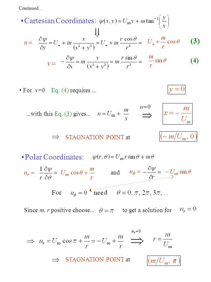 Continued...More convenient to work in polar coordinates.