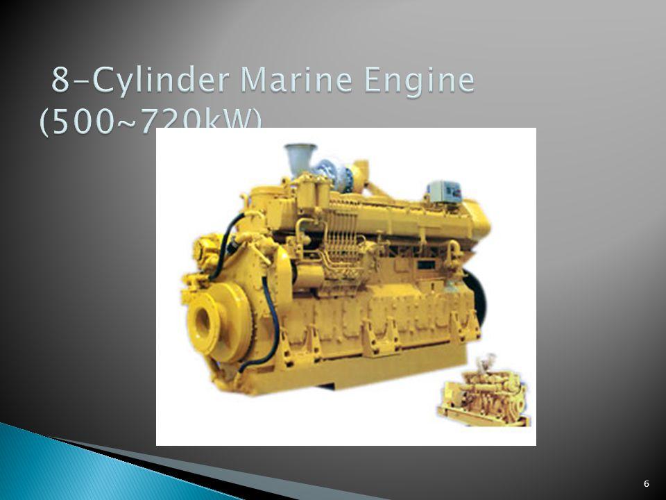 7 Model Rated power (kW) Rated rpm (r/min) Fuel consumption(g/ kW.h) Oil consumption(g/ kW.h) Overall dimensions (mm) Net weight (kg) 8190ZLCZ-R7201450≤204≤1.23175×1220×20555200 8190ZLC7201450≤204≤1.23175×1220×20555200 8190ZLCZ-1R6001200≤202≤1.23175×1220×20555200 8190ZLC-16001200≤202≤1.23175×1220×20555200 8190ZLCZ-2R5001000≤202≤1.23175×1220×20555200 8190ZLC-25001000≤202≤1.23175×1220×20555200 8190ZLCZ-3R6501300≤202≤1.23175×1220×20555200 8190ZLC-36501300≤202≤1.23175×1220×20555200 Technical Specification of 8-Cylinder Diesel Engine:
