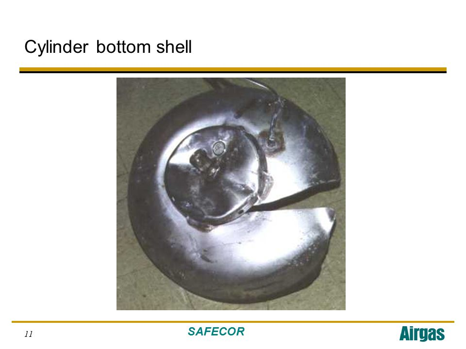 SAFECOR 11 Cylinder bottom shell