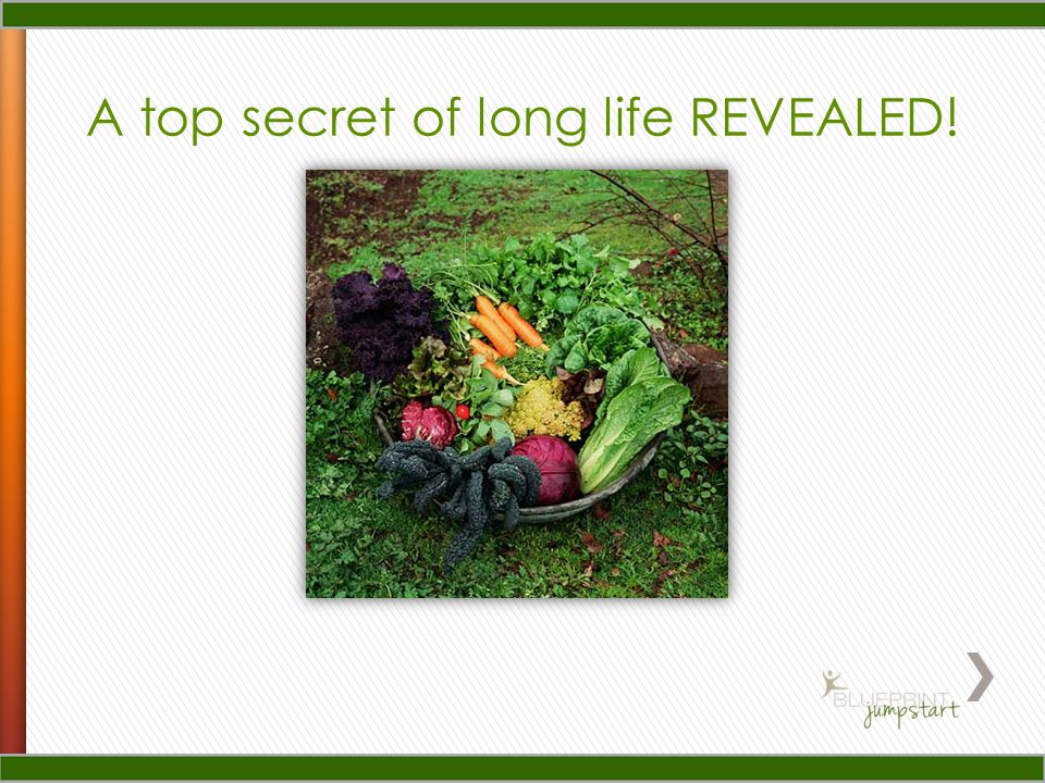 A top secret of long life REVEALED!