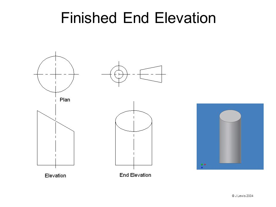 Finished End Elevation © J Lewis 2004