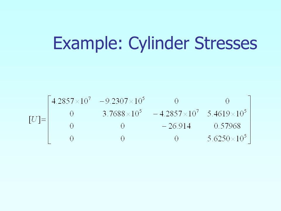 Example: Cylinder Stresses