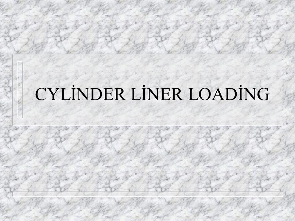 CYLİNDER LİNER LOADİNG