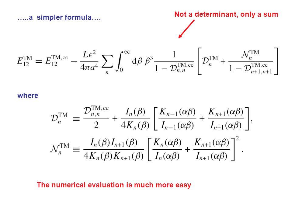 …..a simpler formula….