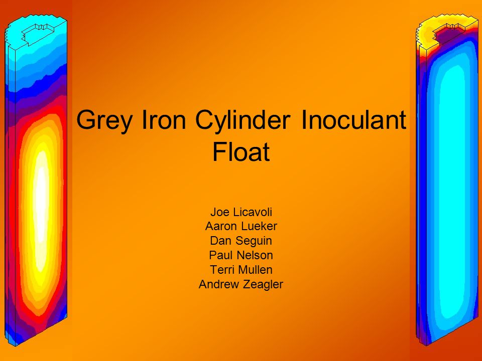 Process Grey Iron was cast into many different cylindrical molds with varying height; 6,12, and 20in Inoculant was added to the melt to initiate nucleation sites for graphite flakes to form in the solid The uniformity of flakes affects the mechanical properties of the material Type D/E Flakes 20μm Scale Bar Type A/B Flakes 20μm Scale Bar