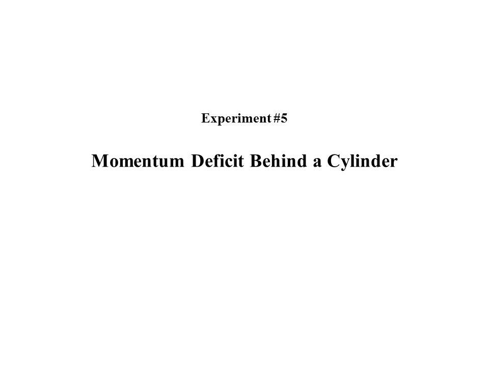 Experiment #5 Momentum Deficit Behind a Cylinder