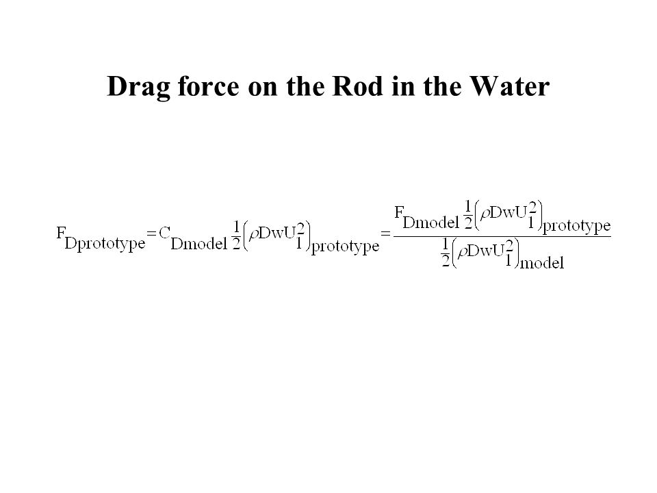 Drag force on the Rod in the Water