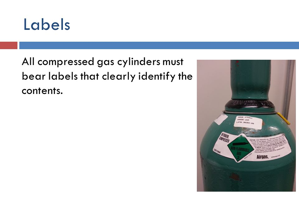 About Compressed Gases Special storage, usage, handling and disposal procedures are necessary to ensure the safety of employees using compressed gases.