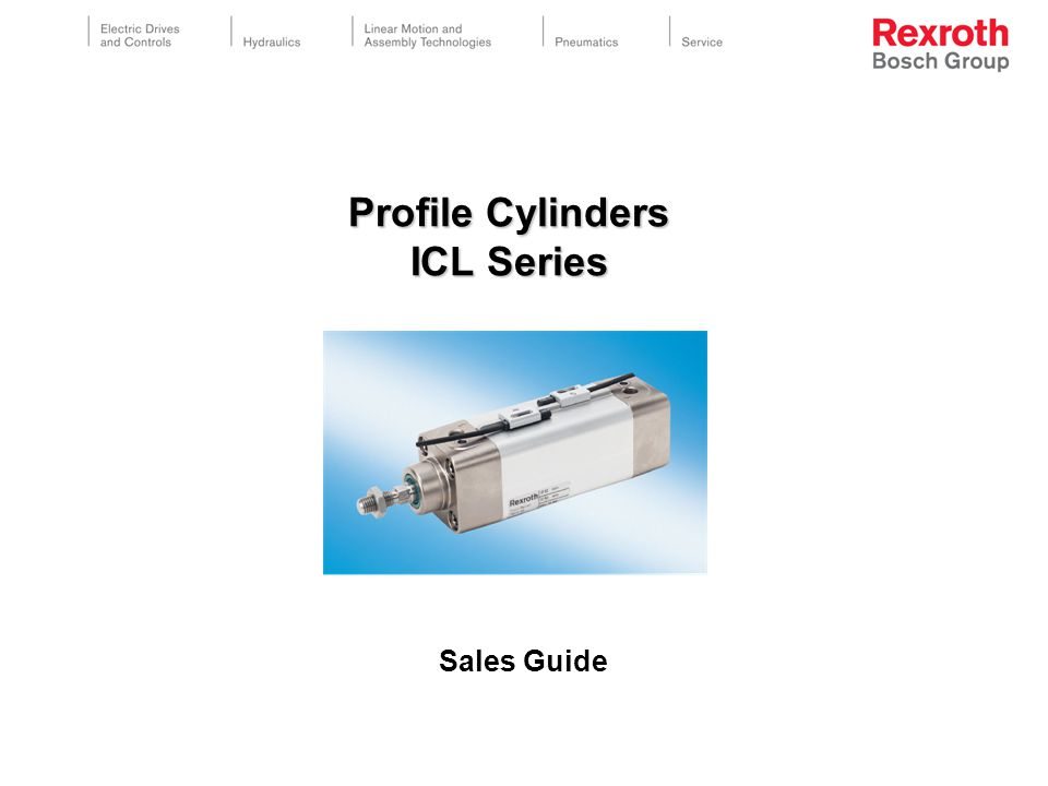 Profile Cylinders ICL Series Sales Guide