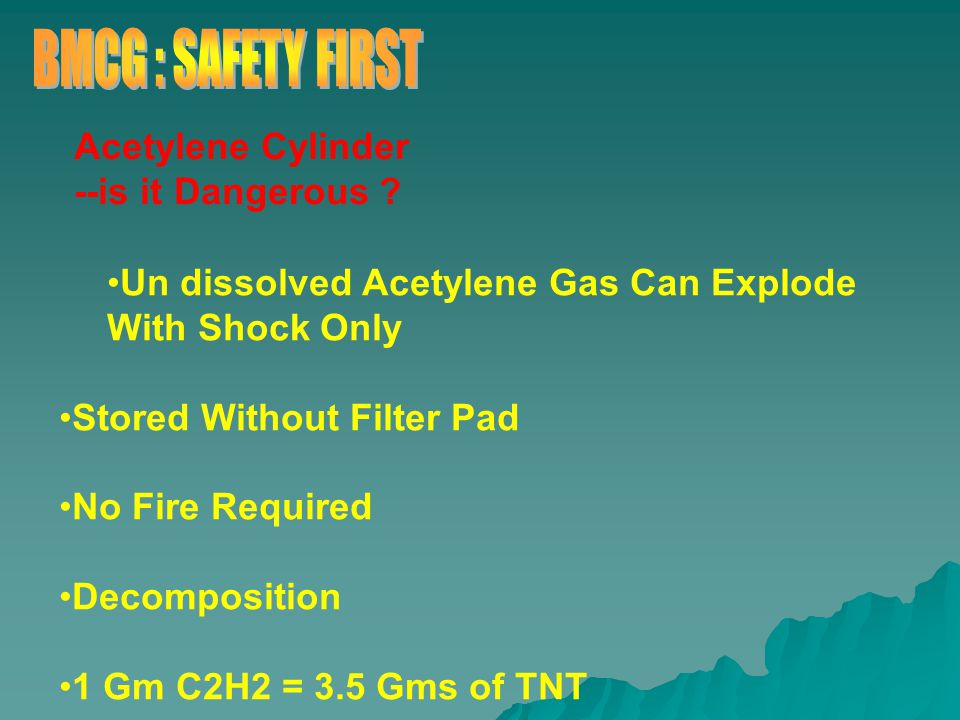 Acetylene Cylinder --is it Dangerous .