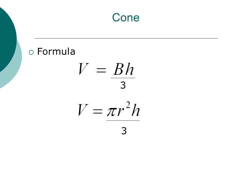 Cone  Formula 3 3