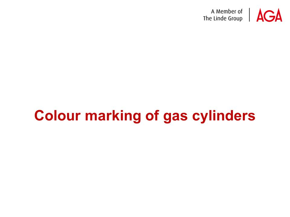 Colour marking of gas cylinders