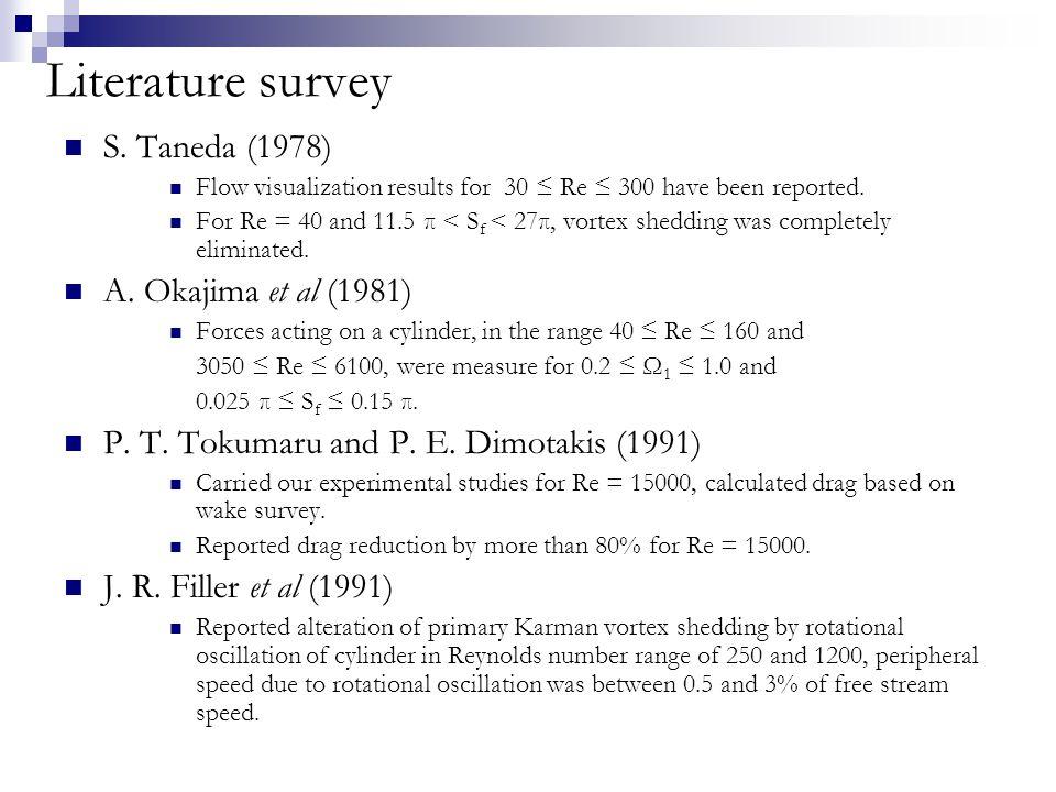 Literature survey (contd) X.-Y.Lu and J.