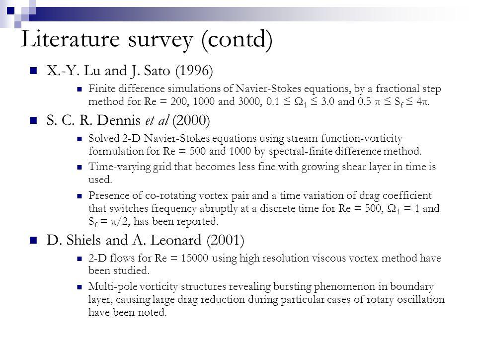 Literature survey (contd) J.-W.
