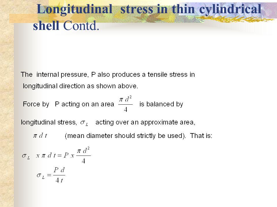 2.2.2. Longitudinal stress in thin cylindrical shell