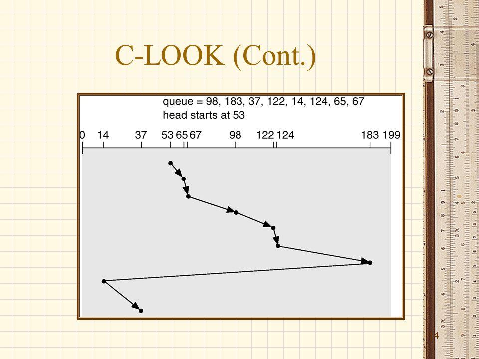 C-LOOK (Cont.) 14
