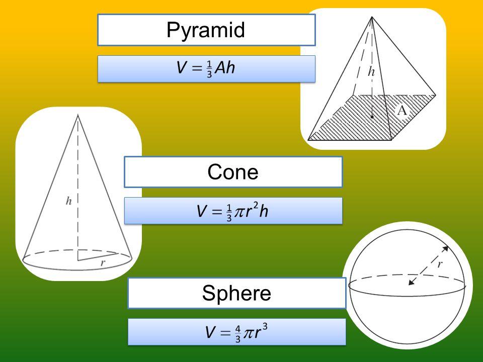 Pyramid Cone Sphere