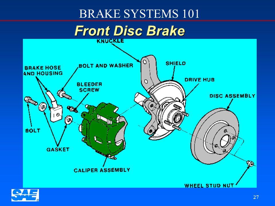 BRAKE SYSTEMS 101 26 Foundation Brake Sub-system   Disc Brakes   Linings