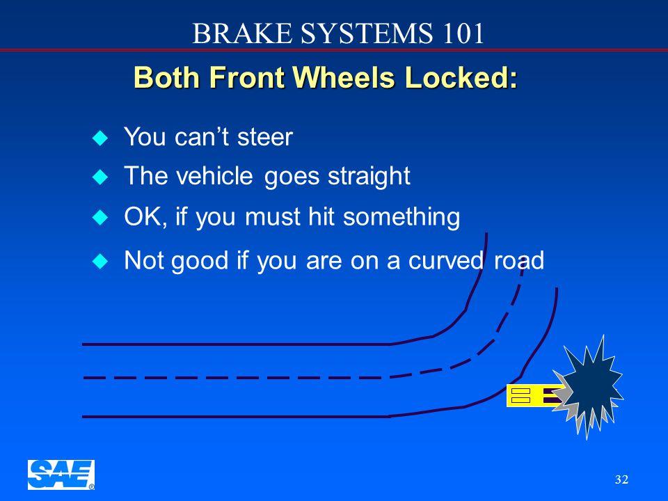 BRAKE SYSTEMS 101 31 Brake Balance