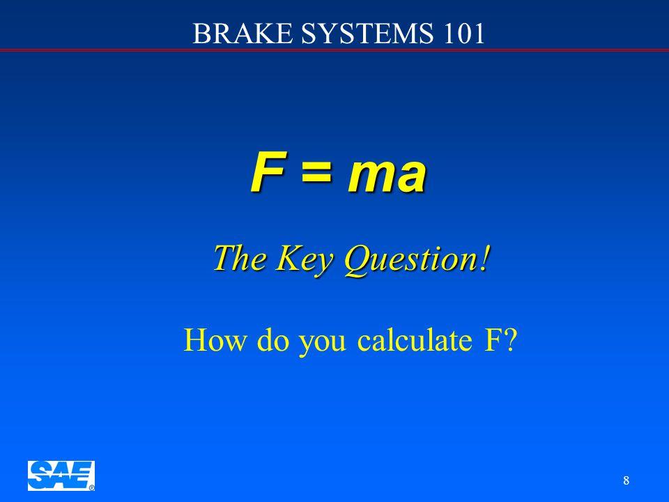 BRAKE SYSTEMS 101 28 Front Disc Brake