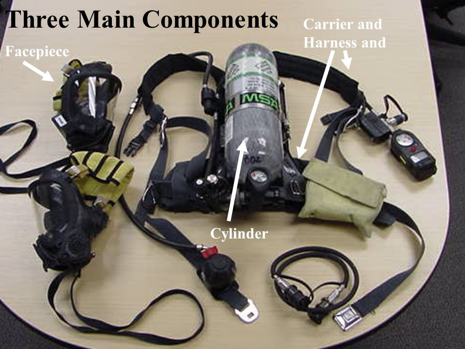 1 Three Main Components Cylinder Carrier and Harness and Facepiece