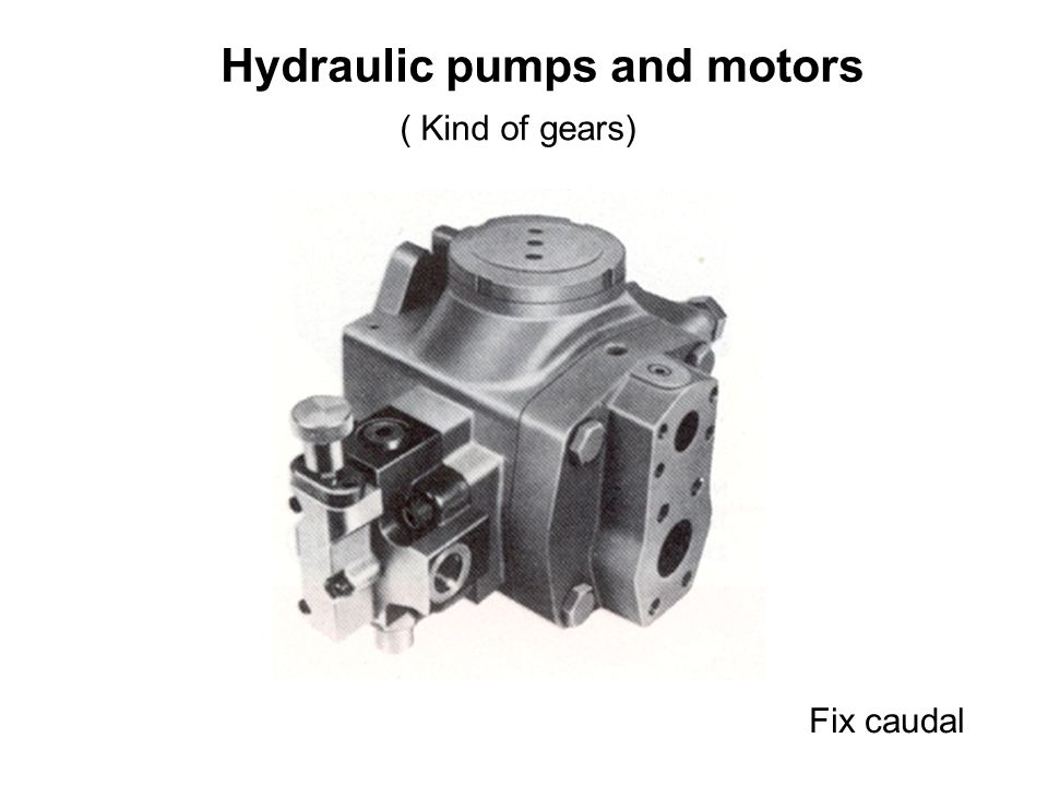 Hydraulic pumps and motors ( Kind of gears)