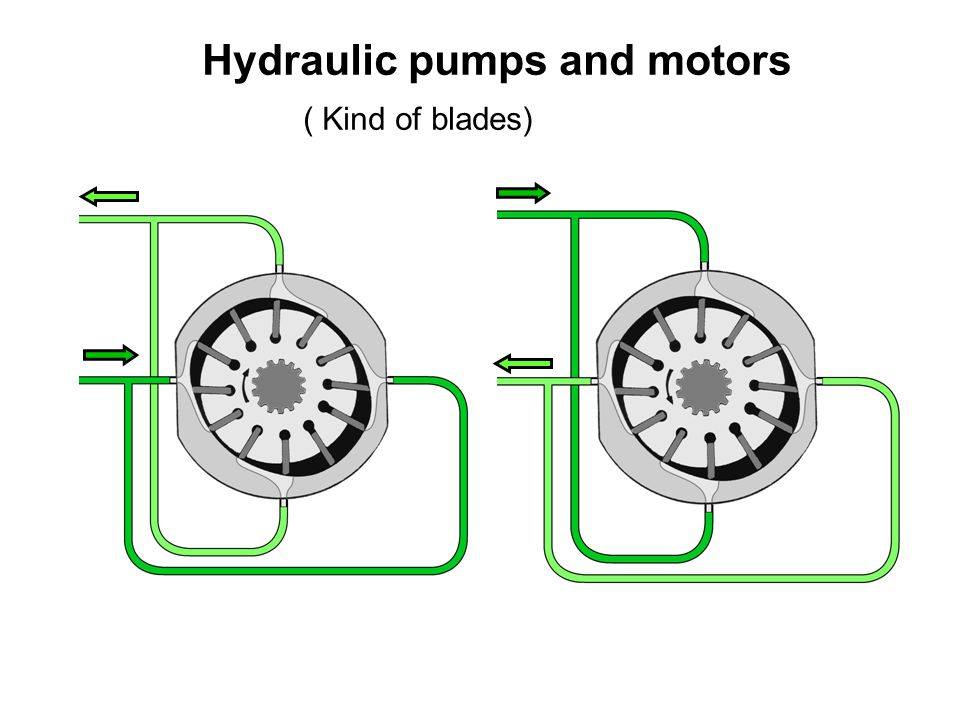 Hydraulic pumps and motors ( Kind of blades)