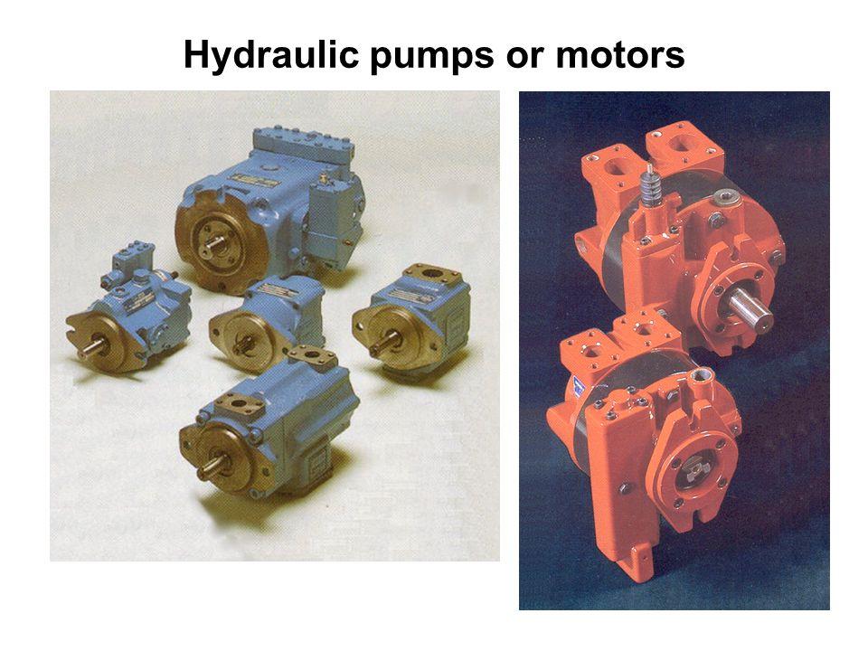 Hydraulic pumps or motors