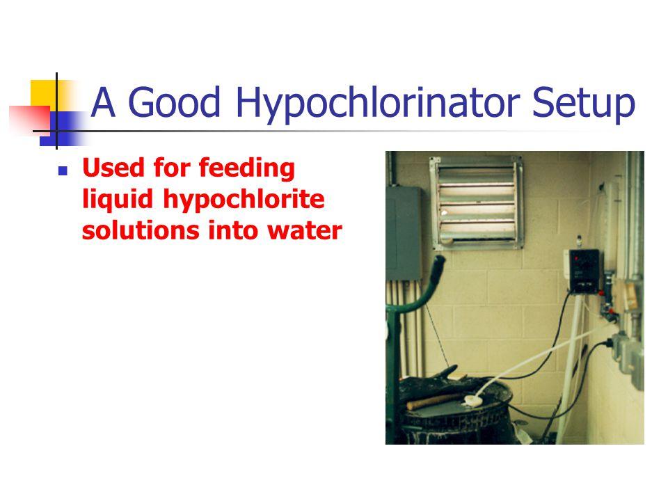 A Good Hypochlorinator Setup Used for feeding liquid hypochlorite solutions into water
